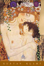Klimt Mother and Child Poster