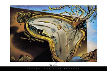 Salvador-Dali-Clock-Explosion-Poster