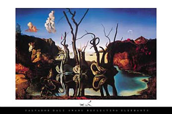 Salvador-Dali-Swans-Reflecting-Elephants-Poster