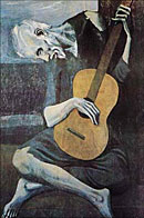 Picasso Old Guitarist Poster