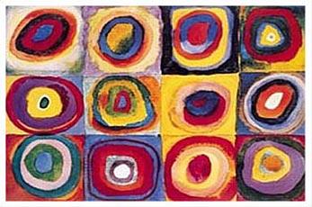 Kandinsky-Farbstudie-Quadrate-Poster