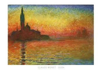 Claude-Monet-Dusk-Poster