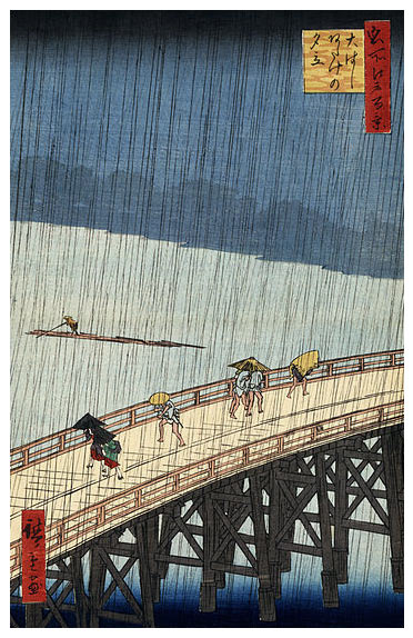 Hiroshige-Sudden-Shower-over-Ohashi-Poster