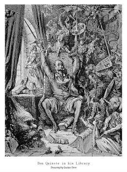 Dore-Don-Quixote-in-his-Library-Poster