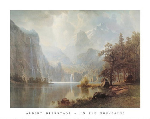 Bierstadt In the Mountains Poster