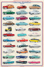 American Automobiles 1950-1959 Poster