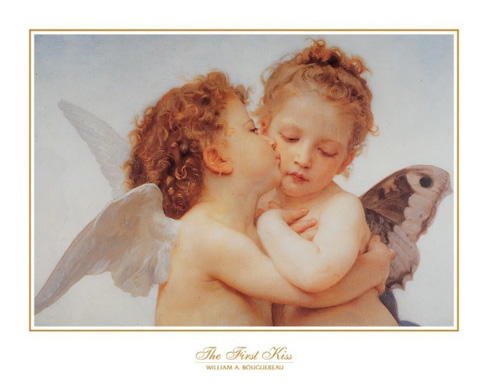 The First Kiss William Bouguereau Art Print Click Add to Cart to Order