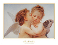 Bouguereau The First Kiss Poster