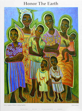 Betty-LaDuke-Uganda-Women-Coming-Together-Poster