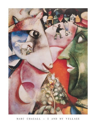 Chagall I and My Village Art Print Click Add to Cart to Order