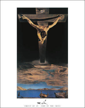 Salvador Dali Christ of St John of the Cross Art Print