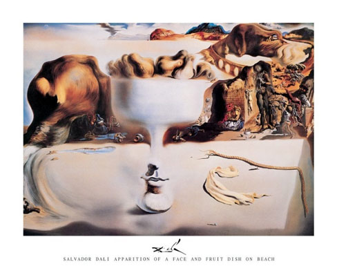 Apparition of Face and Fruit Dish Salvador Dali Art Print