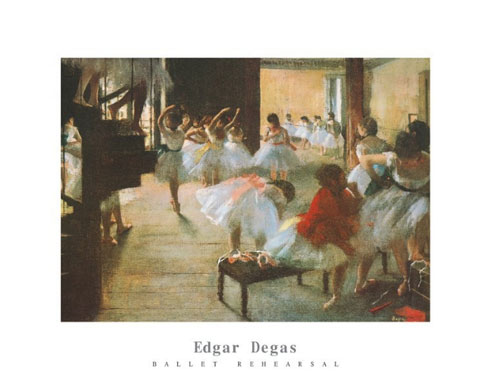 Degas Ballet Rehearsal Print Click Add to Cart to Order
