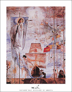 Dali Discovery of America Print Click Add to Cart to Order