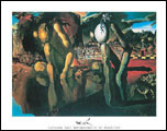 Dali Metamorphosis of Narcissus Art Print Click here to zoom in