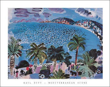 Dufy Mediterranean Scene Art Print Click Add to Cart to Order
