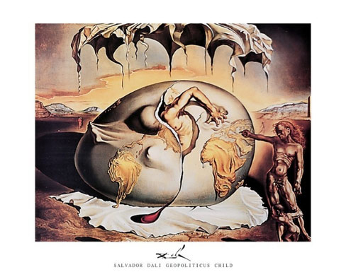 Dali Geopoliticus Child Art Print Click Add to Cart to Order