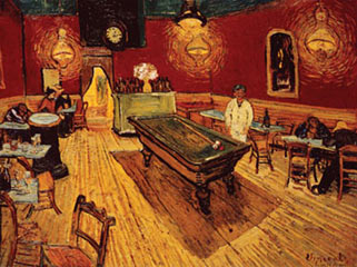 Night Cafe with Pool Table Van Gogh Poster