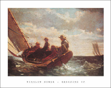 Winslow Homer Breezing Up Poster Art Print