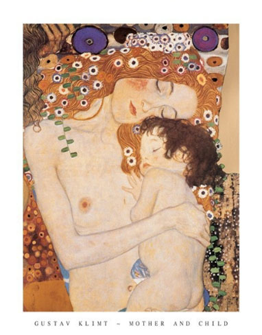 Gustav-Klimt-Mother-and-Child-Art-Print