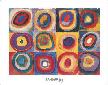 Kandinsky Farbstudie Art Print Click Add to Cart to Order