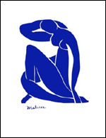 Matisse Blue Nude Art Print Click here to zoom in
