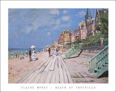Monet Beach at Trouville Art Print Click Add to Cart to Order