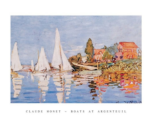 Monet Boats at Argenteuil Art Print Click Add to Cart to Order
