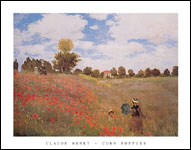 Monet Poppies Art Print Click here to zoom in