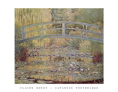 Monet Japanese Footbridge Art Print Click Add to Cart to Order