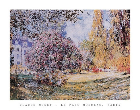 Monet Le Parc Monceau Art Print Click Add to Cart to Order