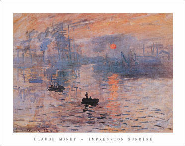 Monet Impression Sunrise Art Print Click Add to Cart to Order