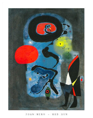 Joan Miro Red Sun Art Print Click Add to Cart to Order