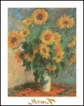 Monet Sunflowers Art Print
