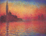Monet Dusk Art Print Click here to zoom in