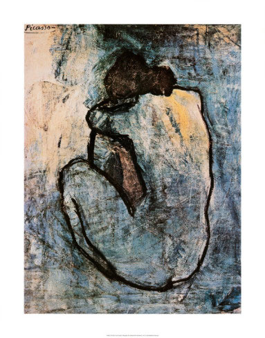 Picasso Blue Nude Art Print Click Add to Cart to Order