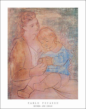 Pablo-Picasso-Mother-and-Child-Art-Print