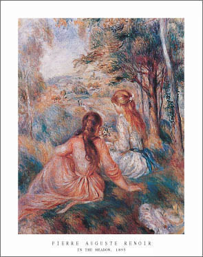 Renoir In the Meadow Art Print Click Add to Cart to Order