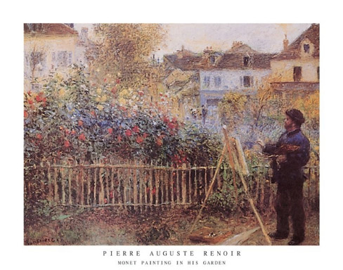 Renoir Art Print of Monet Click Add to Cart to Order
