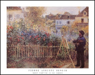 Renoir Monet Painting in his Garden Art Print Click here to zoom in
