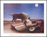 Rousseau Sleeping Gypsy Art Print Click here to zoom in
