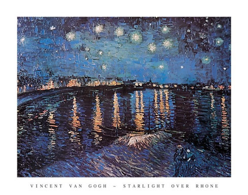 Van Gogh Starlight Over the Rhone Art Print Click Add to Cart to Order
