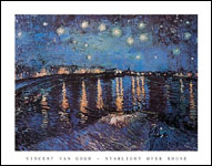 Vincent Van Gogh Starlight Over the Rhone Art Print Click here to zoom in