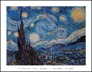Vincent Van Gogh Starry Night Art Print Click here to zoom in