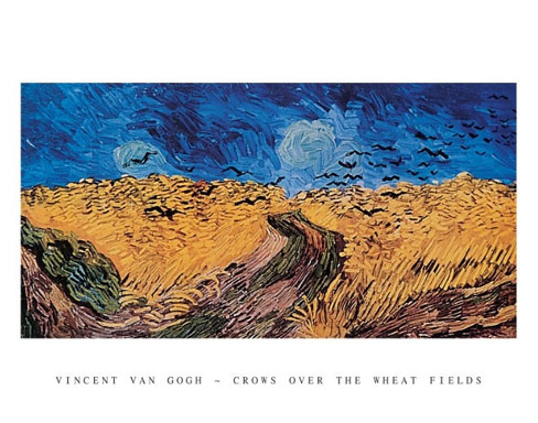 Van Gogh Crows over the Wheat Fields Art Print Click Add to Cart to Order