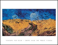Van Gogh Crows over the Wheat Fields Art Print Click here to zoom in