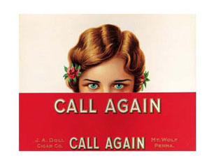 Call-Again-Vintage-Cigar-Box-Label-Poster