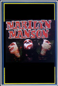 Marilyn Manson 3 Faces Blacklight Poster