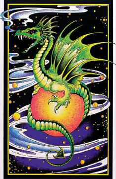 Space-Dragon-Blacklight-Velvet-Poster