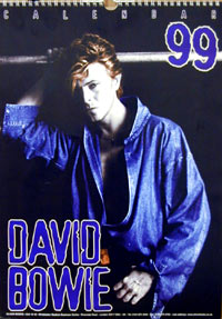 David Bowie 1999 Wall Calendar